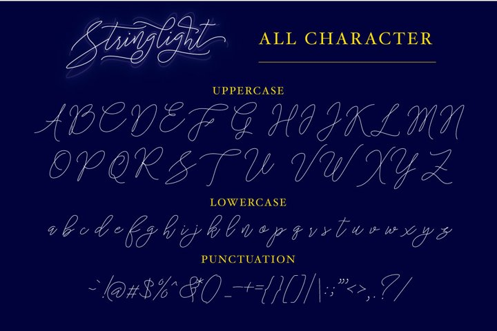 Stringlight Typeface - Free Font of The Week Design4