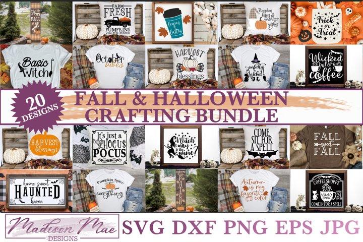 Fall & Halloween SVG Bundle - 20 Fall/Halloween Designs
