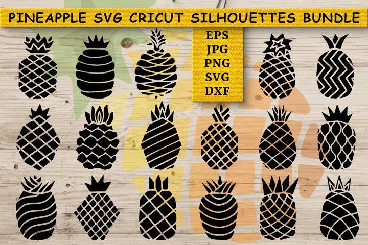 Pineapple SVG | Cricut | Summer Stamp Silhouettes Bundle