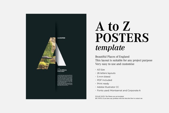 A to Z business corporate posters template