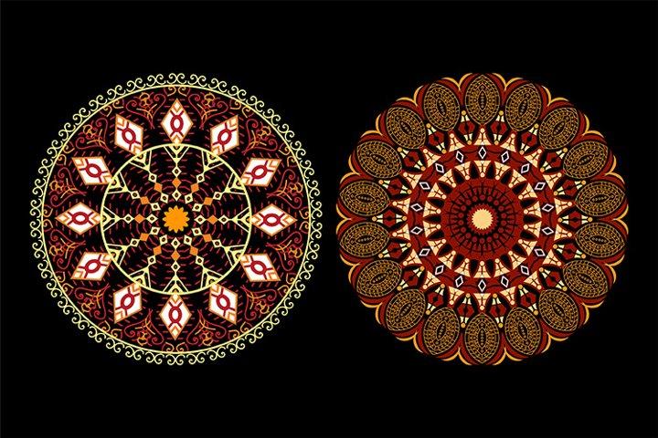 Floral Mandala Design - Vector