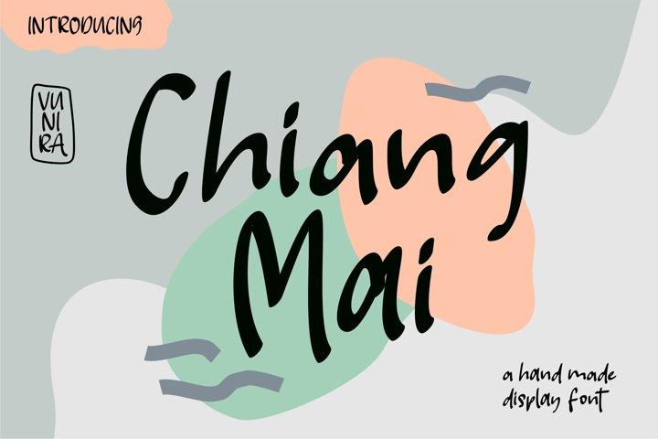 Chiang Mai | A Handmade Display Font