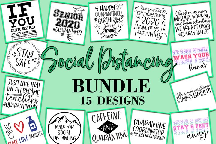 Social Distancing Bundle SVG