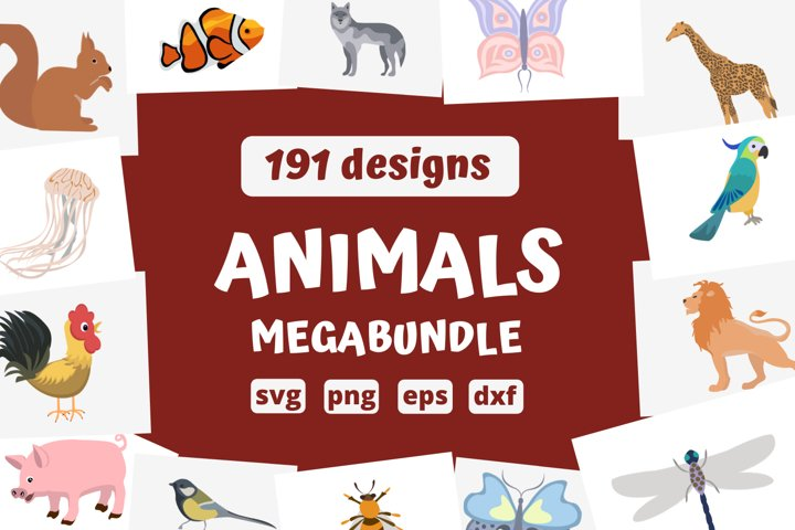 HUGE ANIMALS SVG BUNDLE   Birds, animals, insects, farm svg