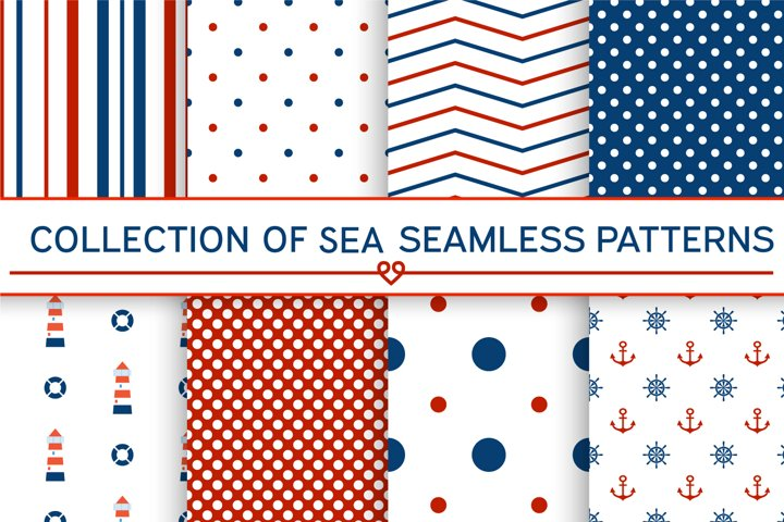 SEA SEAMLESS PATTERS / DIGITAL PAPERS