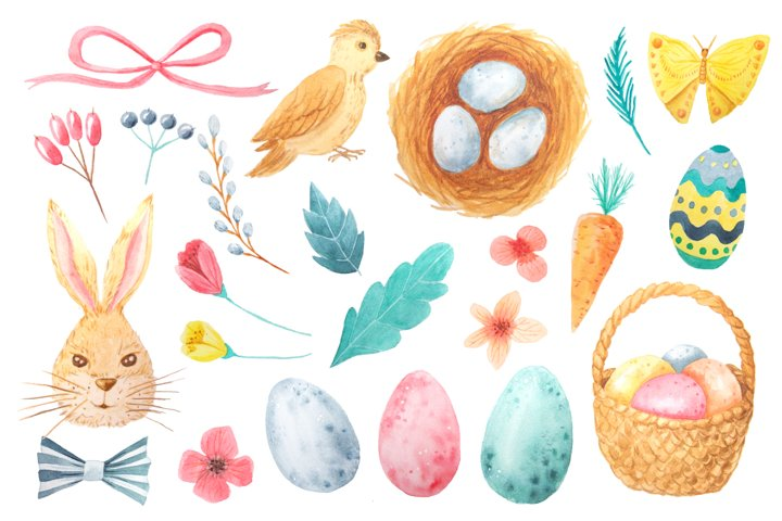 Watercolor Easter Set example 1