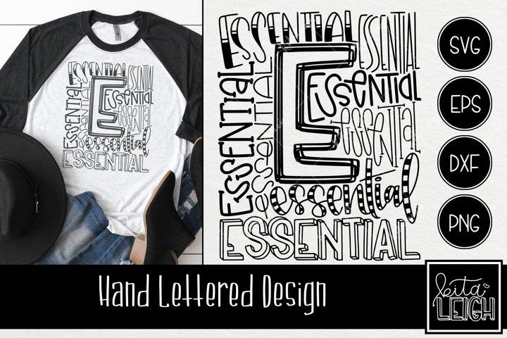 Essential Worker Typography SVG