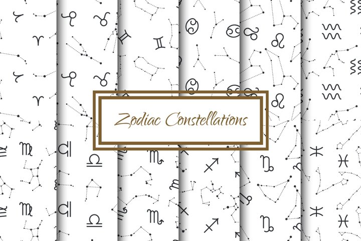 Zodiac Constellations Patterns