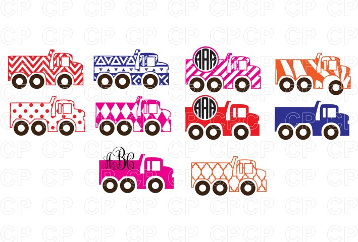 Truck Bundle SVG Cut Files, Truck Clipart