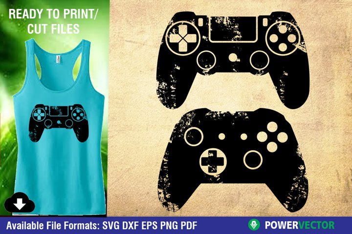 Video Game Controllers SVG - PSP Xbox Distressed Clip art