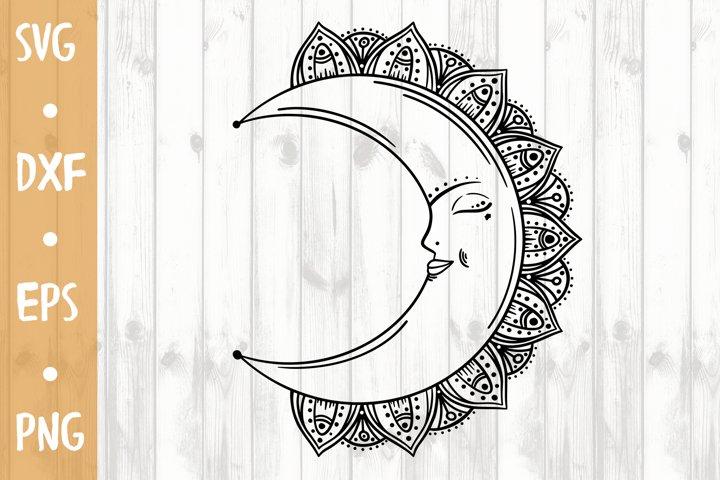 Mandala Moon SVG CUT FILE