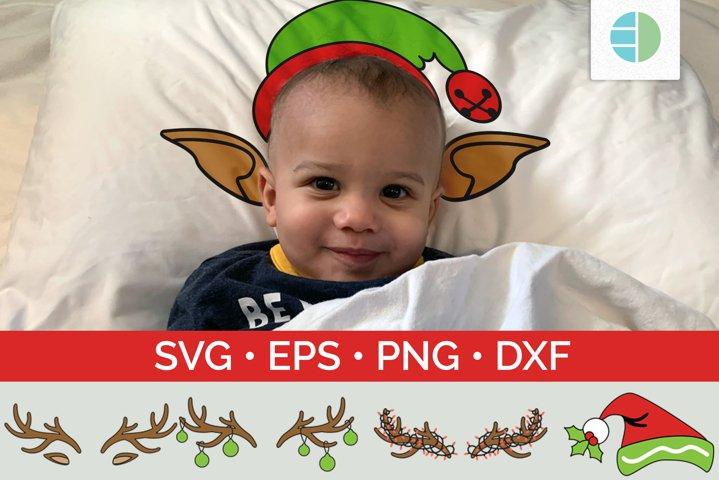 SVG Christmas Antlers | Elf Hat | Pillowcase Bundle