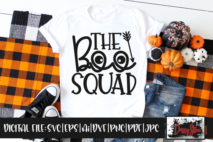 The Boo Squad SVG DXF Ai EPS PDF PNG JPG