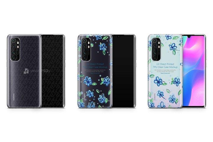 Mi Note 10 Lite 2020 TPU Clear Case Mockup