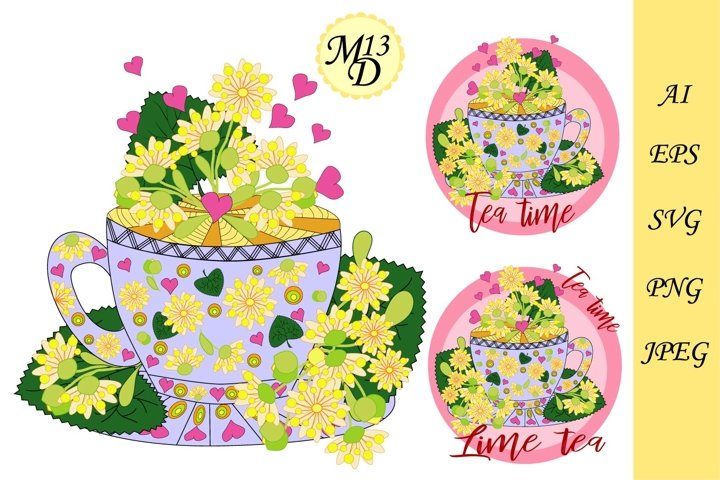 Lime tea, herbal teas. Tea cooked with love