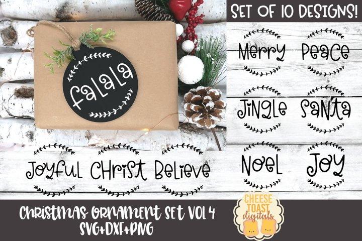 Christmas Ornament Bundle Vol 4   Christmas SVG for Rounds