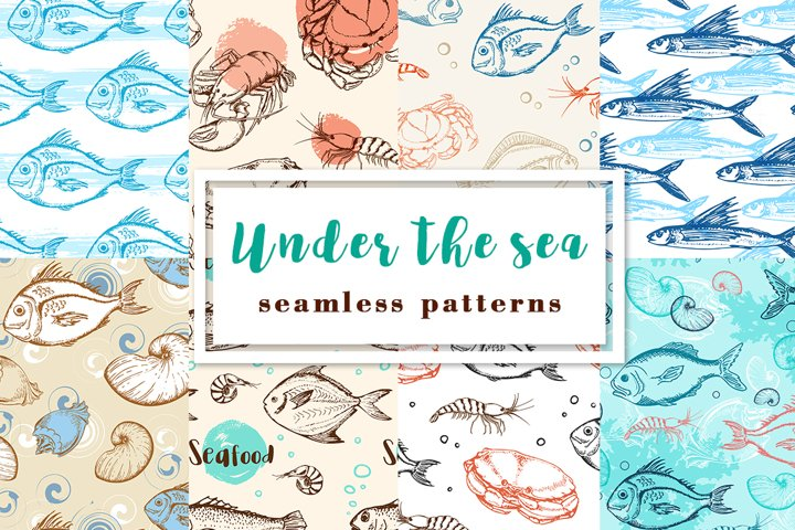 Under the Sea. Seamless Patterns