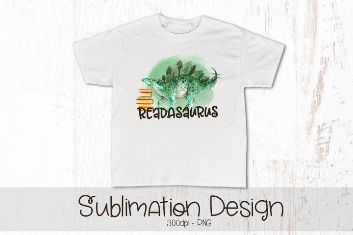ReadASaurus Sublimation Design