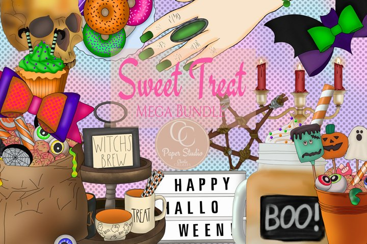 Halloween planner clip art MEGA bundle