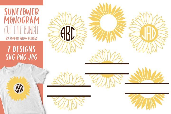 Download Sunflower Monogram Bundle Svg Cut Files Free Design Of The Week Design Bundles