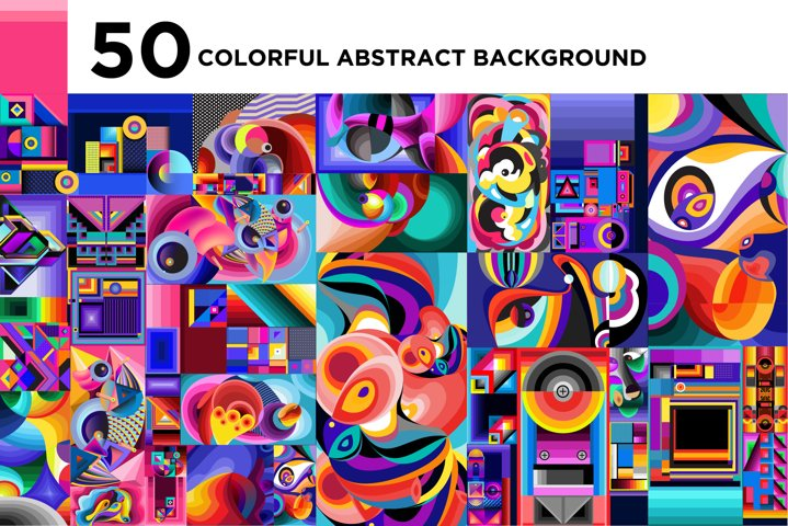 50 Colorfful Abstract Background