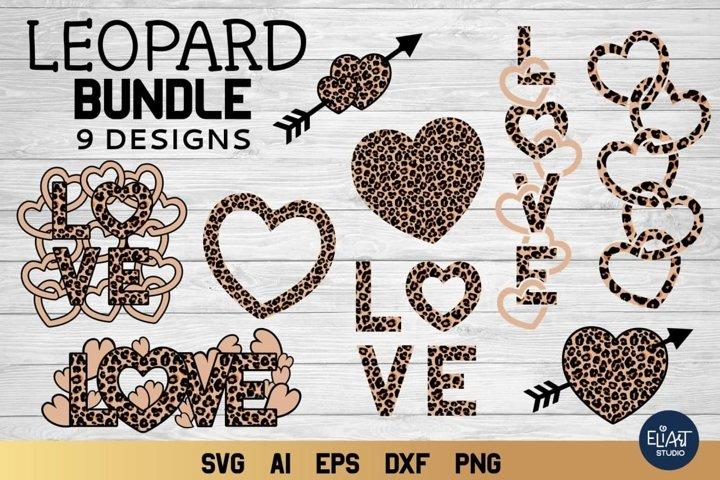 Valentines Day SVG | Leopard Bundle SVG | 9 Designs