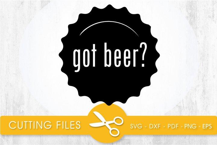 got beer? svg cutting file, svg, dxf, pdf, eps