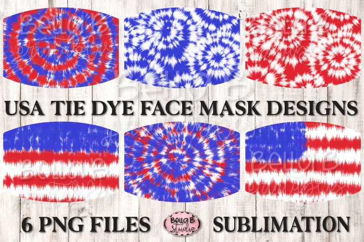 American Tie Dye - Sublimation Face Mask Designs