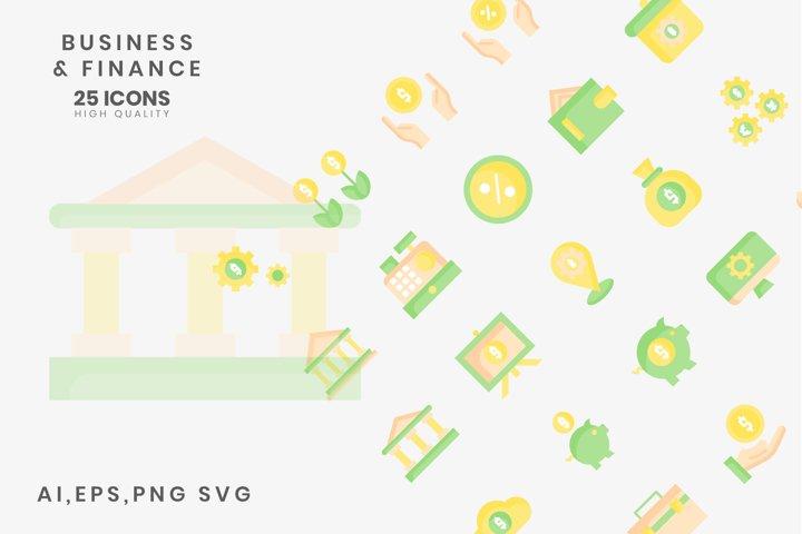 Business Finance Flat Color