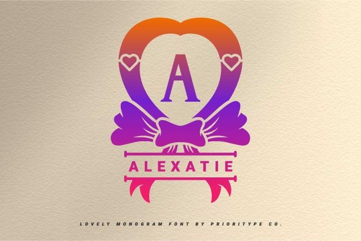 Alexatie - Lovely Monogram Font