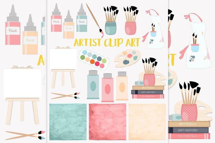 Artist tools clipart set