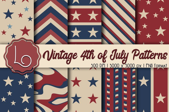 Vintage 4th of July Patterns