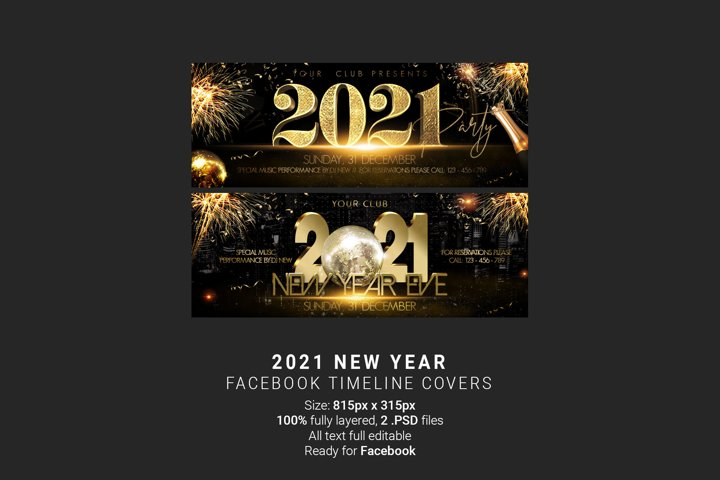 New Year Facebook Timeline Covers