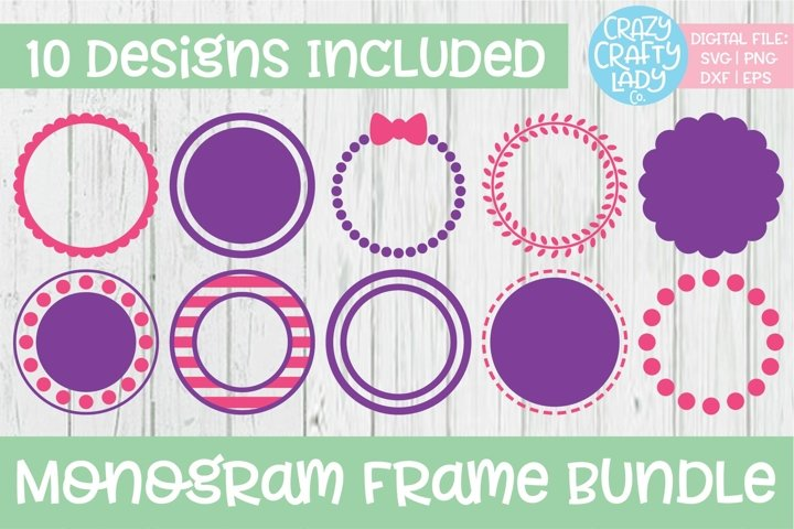 Monogram Frame SVG DXF EPS PNG Cut File Bundle