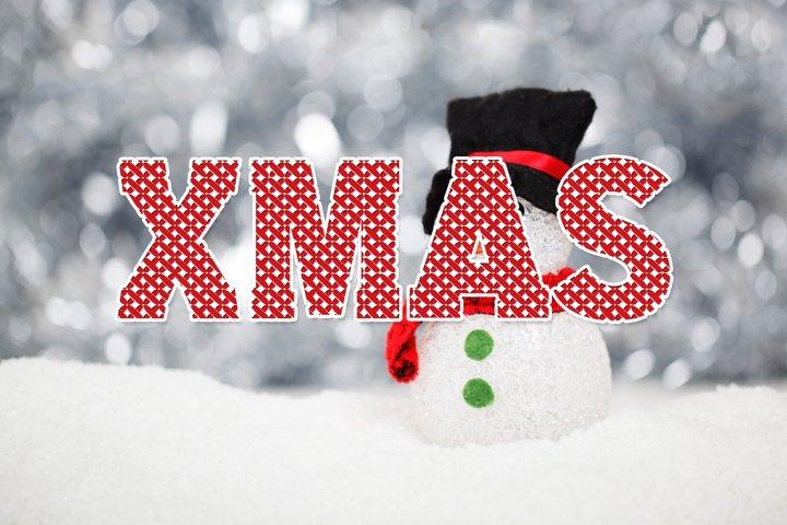 Cross Stitch Christmas Font
