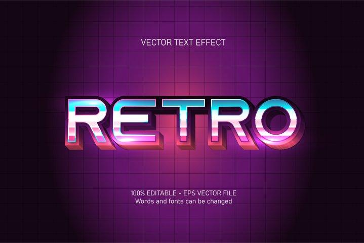Retro text, retro style editable text effect