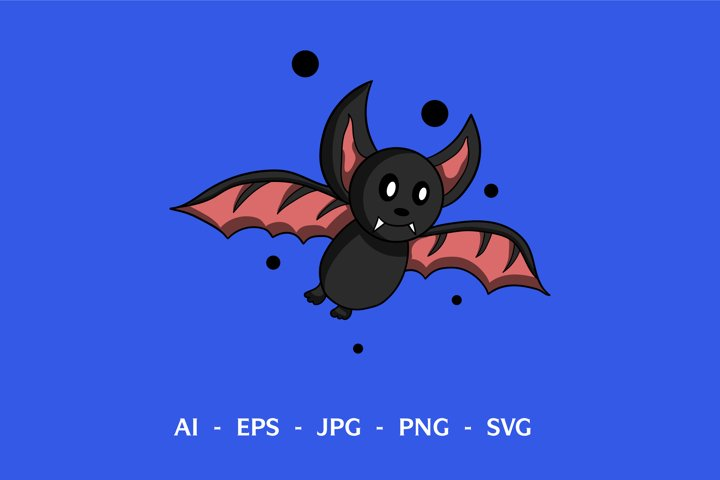 Bat cute design
