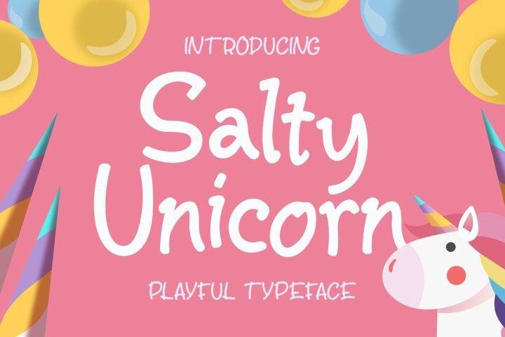Salty Unicorn Playful Typeface