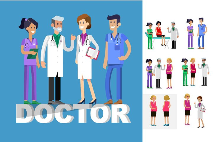 Medical characters set