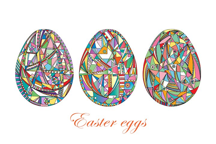 Easter eggs set.