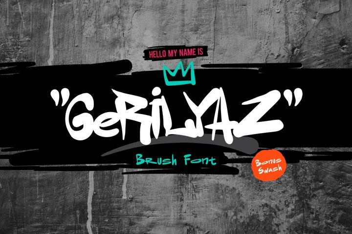 Gerilyaz - Brush Font