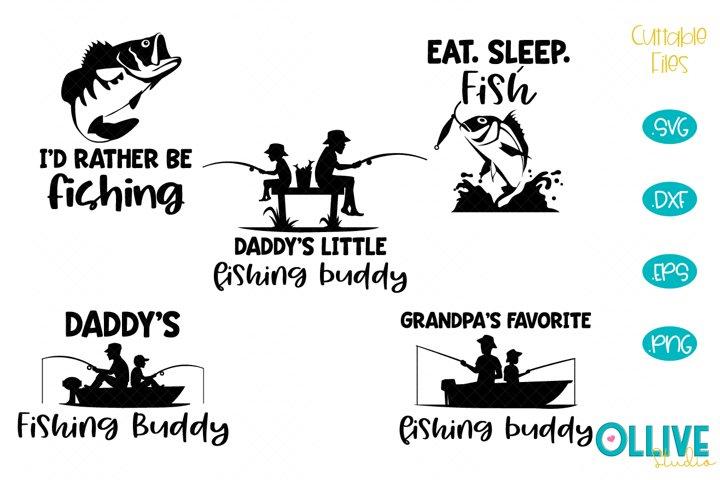 Daddyd Fishing Buddy SVG Fishing Bundle