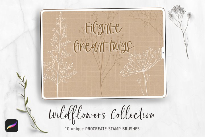 Floral Procreate Stamp Brushes - Procreate 5 App