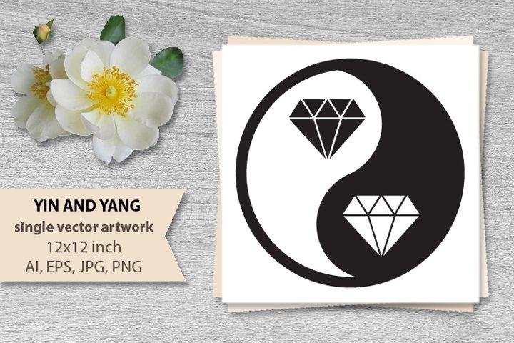 yin yang - vector