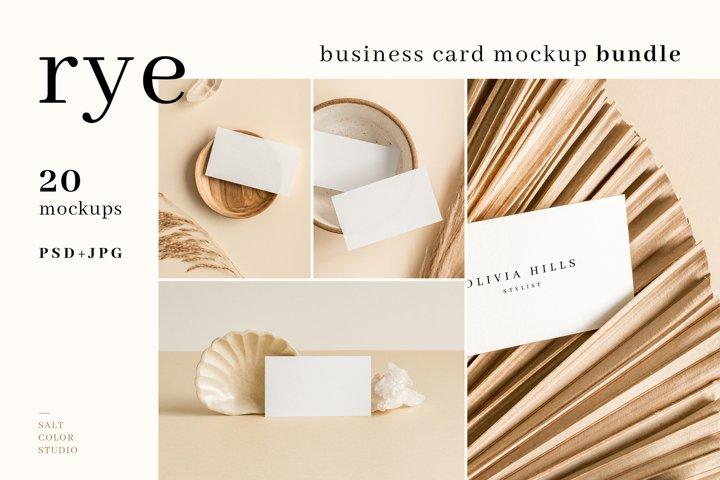 Rye - Business Card Mockup Bundle