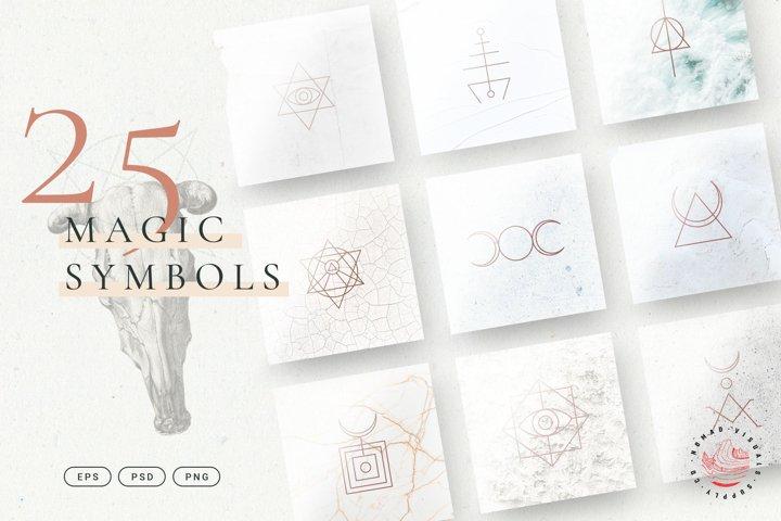 Minimalistic Magic Symbols - Occult Shapes