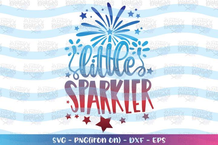 4th of July svg Little Sparkler