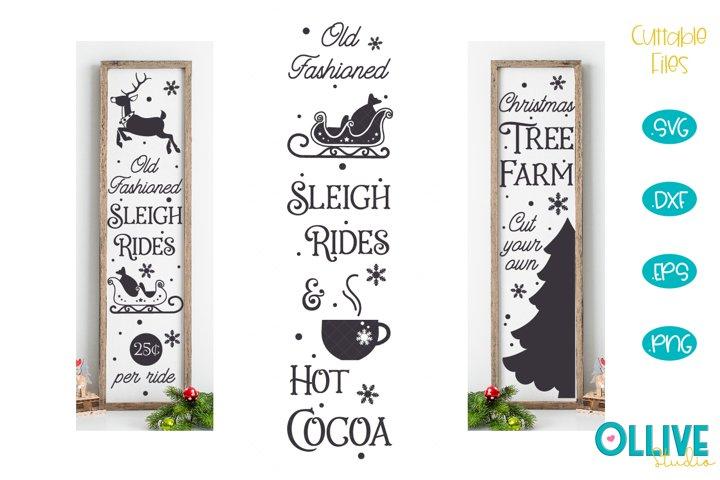 Vertical Sign Christmas SVG Mini Bundle