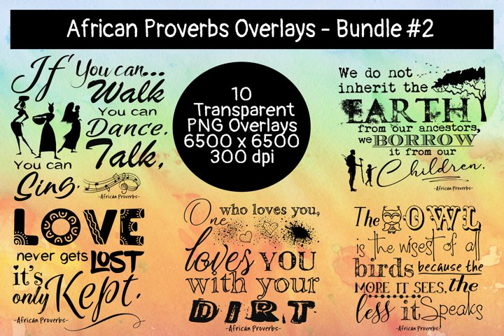 African Proverbs Overlays Bundle #2