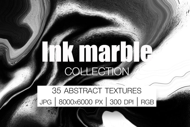 Ink marble Collection. 35 Abstract Textures